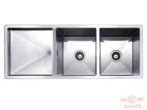 سینک ظرفشویی توکار استیل مس مدل D34T دو لگن