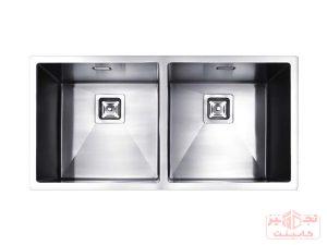 سینک ظرفشویی توکار استیل مس مدل D40 دولگن