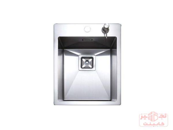 سینک ظرفشویی توکار استیل مس مدل F34 تک لگن
