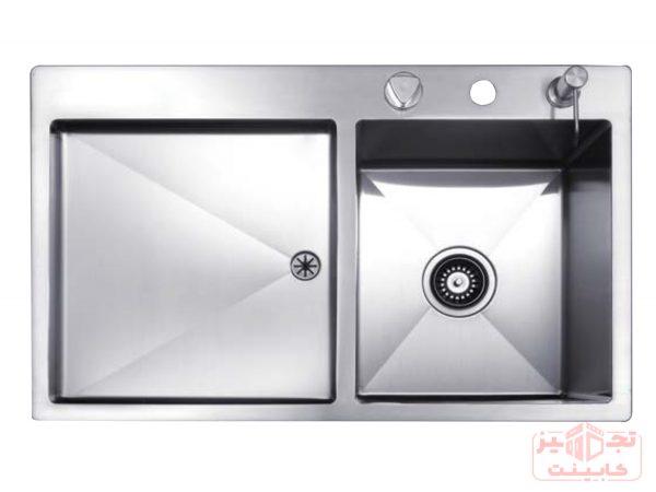 سینک ظرفشویی توکار استیل مس مدل F34TR تک لگن