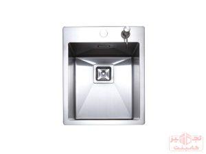 سینک ظرفشویی توکار استیل مس مدل F40 تک لگن