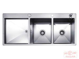سینک ظرفشویی توکار استیل مس مدل FD34TR دو لگن