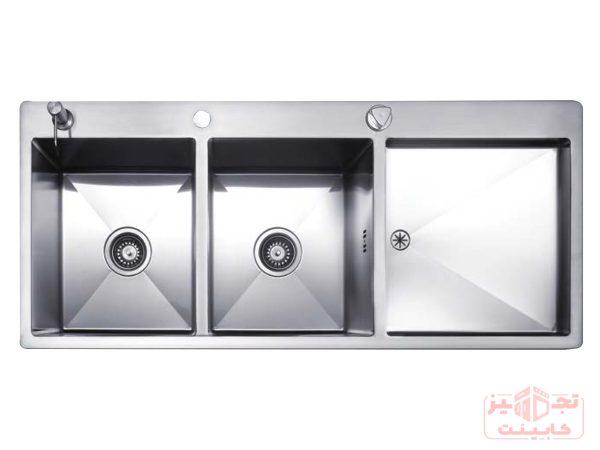 سینک-ظرفشویی-توکار-استیل-مس-FD34TLمدل