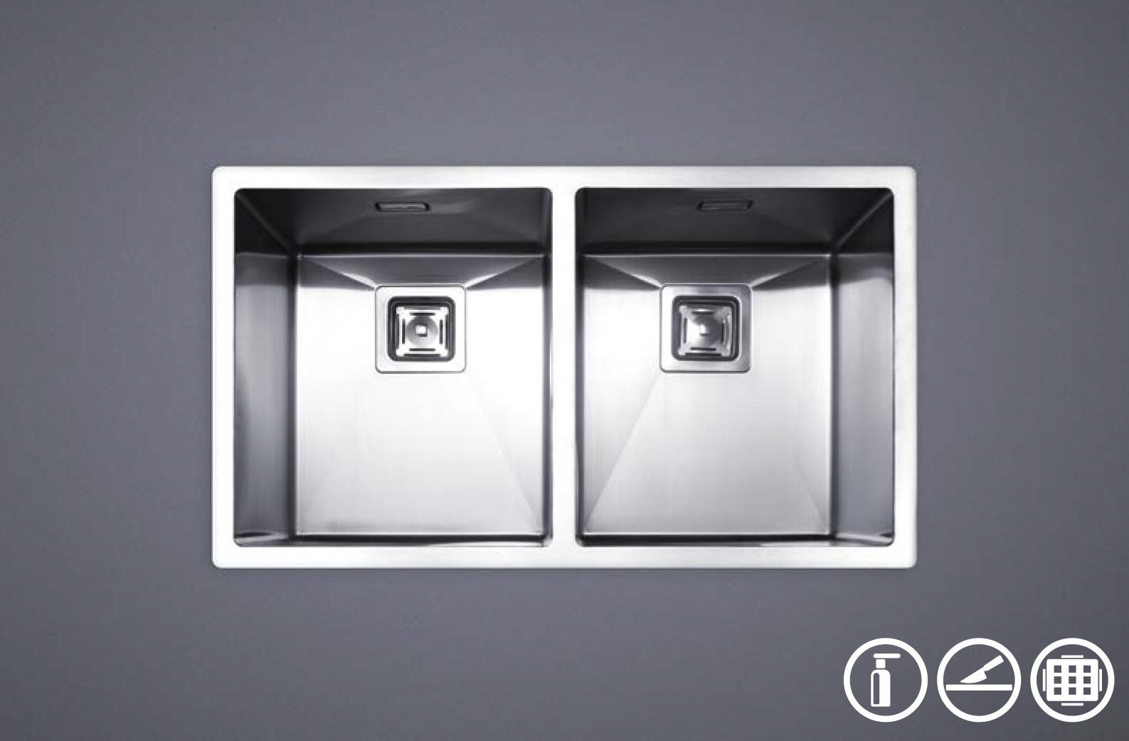 سینک ظرفشویی توکار استیل مس مدل D34 دولگن