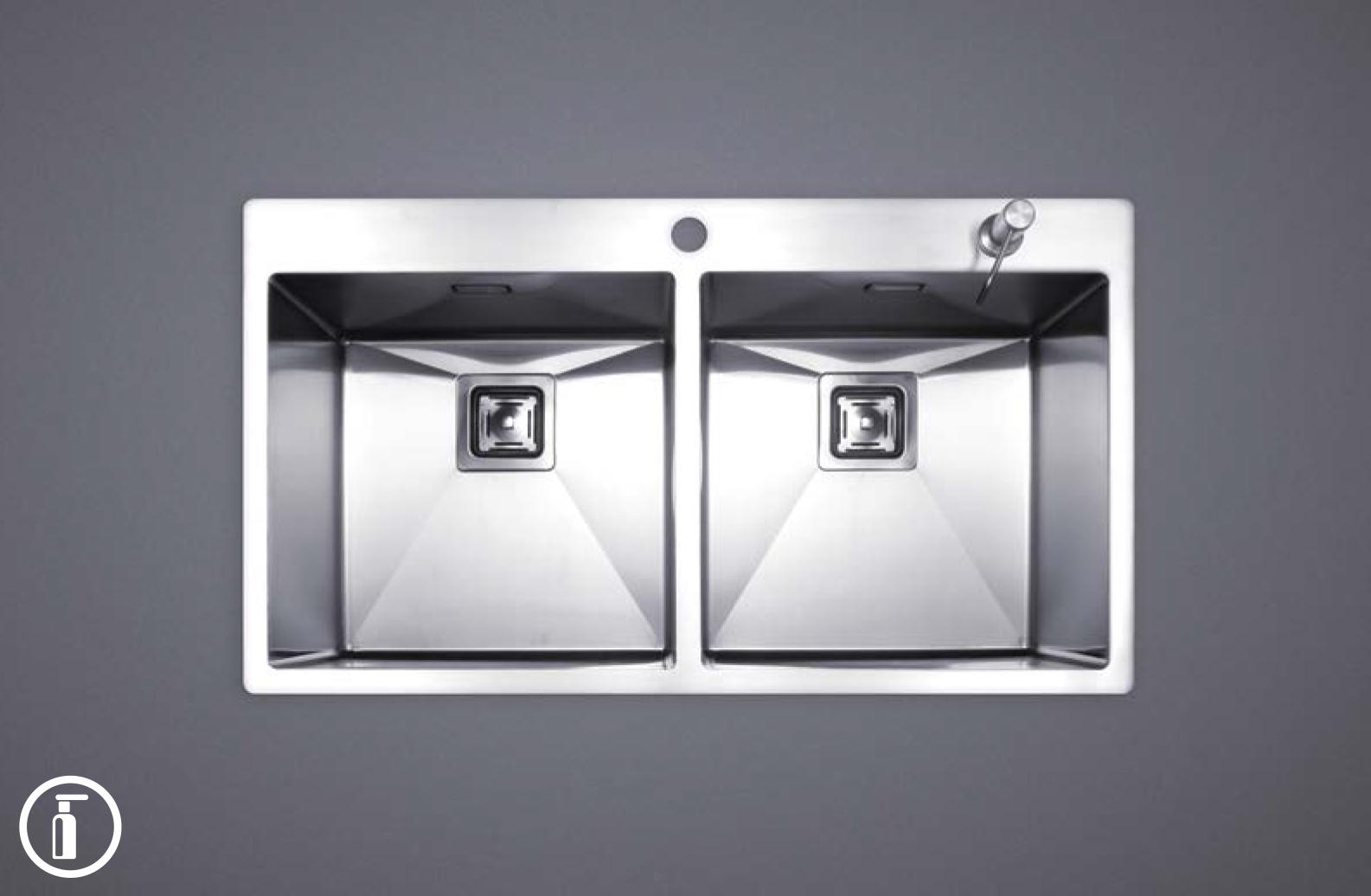 سینک ظرفشویی استیل مس مدل FD40