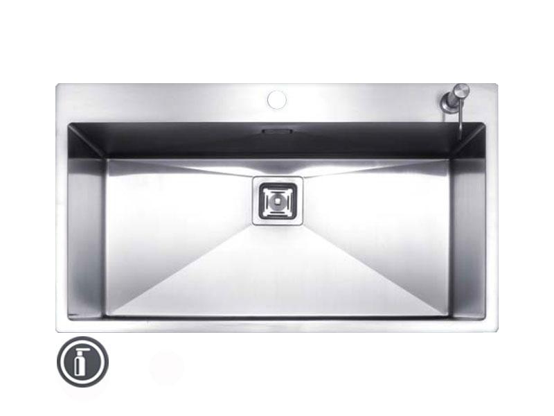 سینک ظرفشویی توکار استیل مس مدل F80 تک لگن